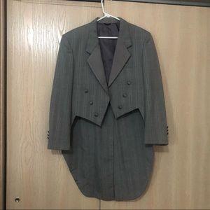 Christian Dior Grey Pinstripe Tuxedo Blazer Jacket